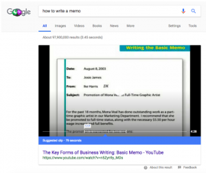 Videos are Showing up in Featured Snippets