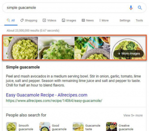 Google Featured Snippets More Images Section
